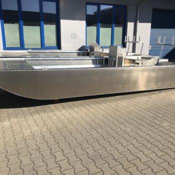 łódź płaskodenna z aluminium