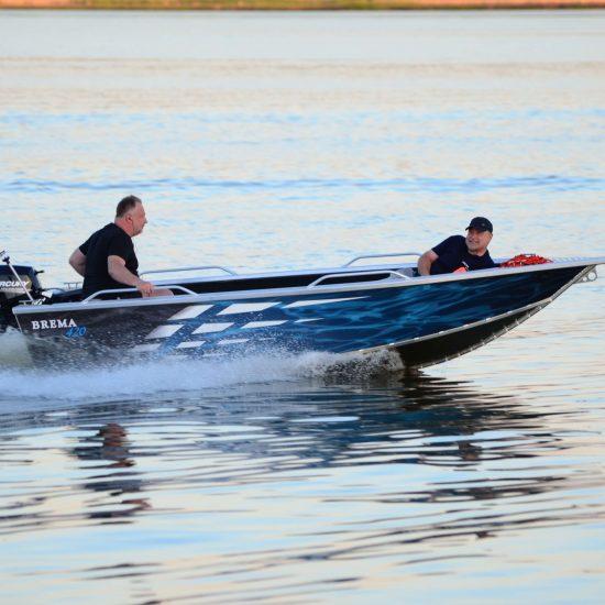 łodka z aluminium wędkarska brema boats