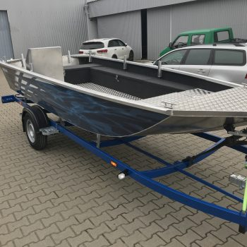 łódź aluminiowa płaskodenna