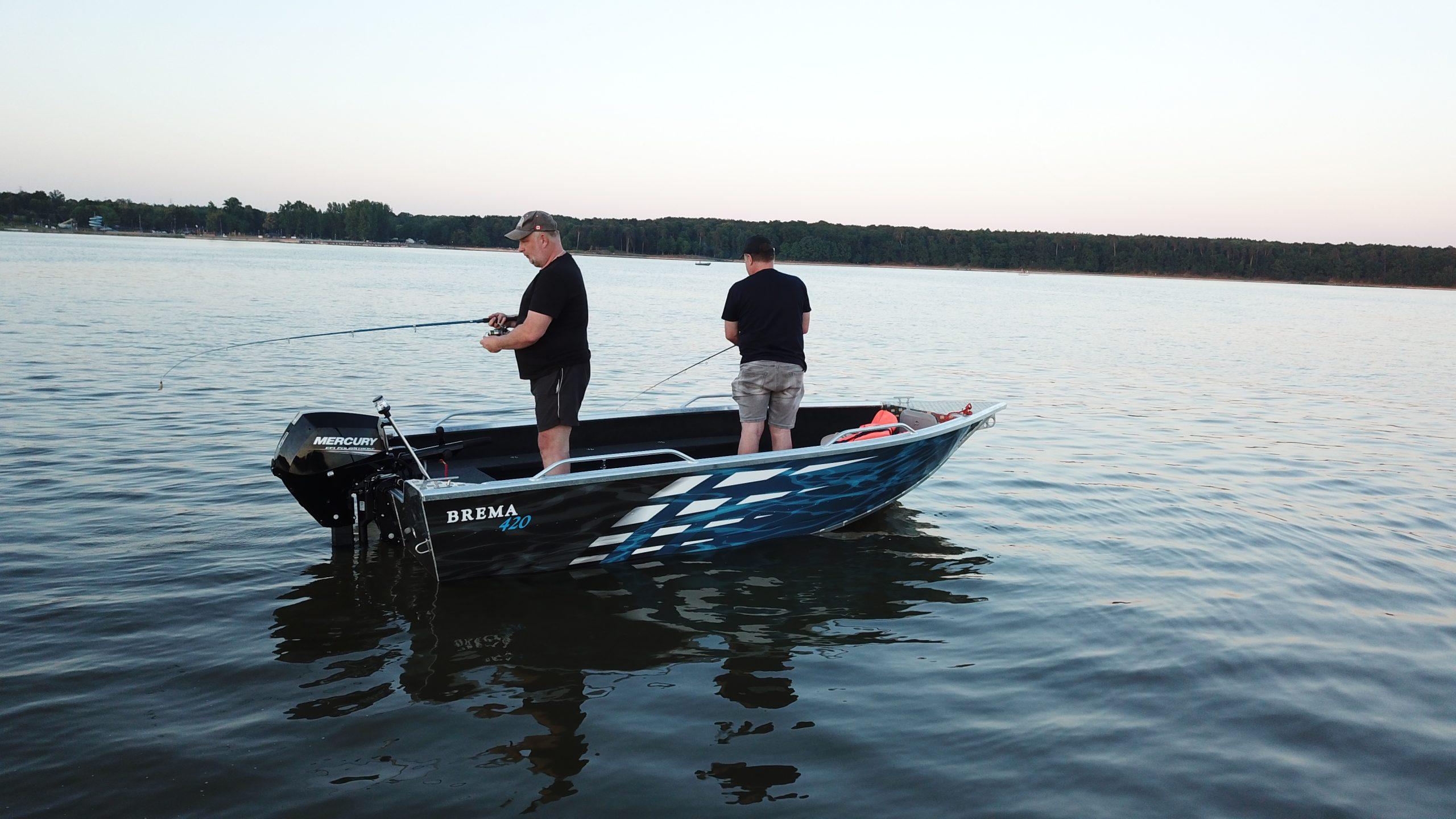 wędkarska łódź aluminiowa